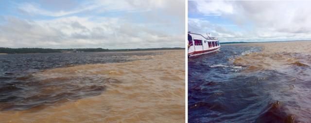 encontro das águas do Rio Solimões e do Rio Negro