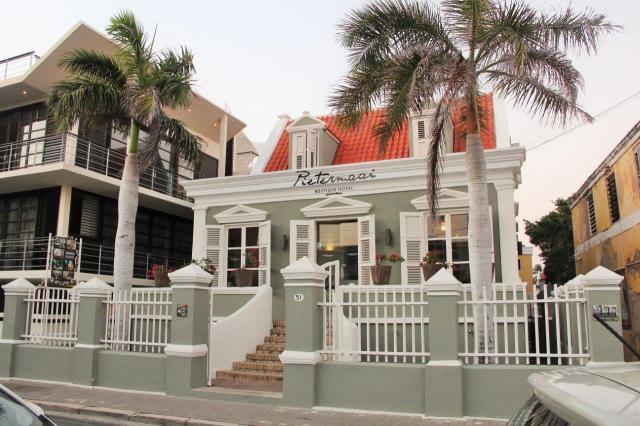 Hotel Pietermaai em Curaçau. Os quartos são mini apartamentos