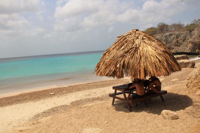 A praia Jeremi fica bem deserta durante a semana