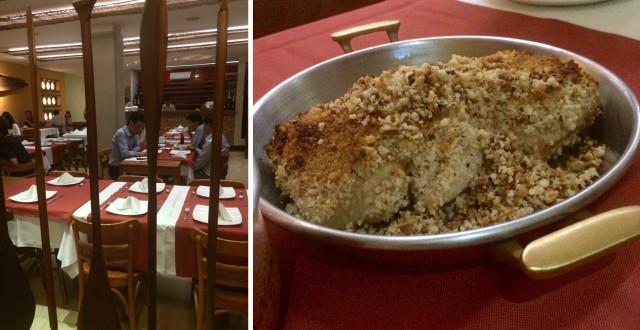 Restaurante Banzeiro, ótimo prato: Pirarucu com castanha-do-pará